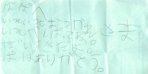 チャコの手紙