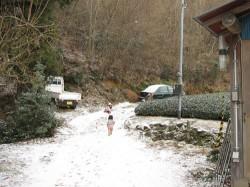 子どもたちと雪